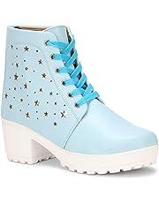 ZOVIM Women Casual High Heels Boots Shoes