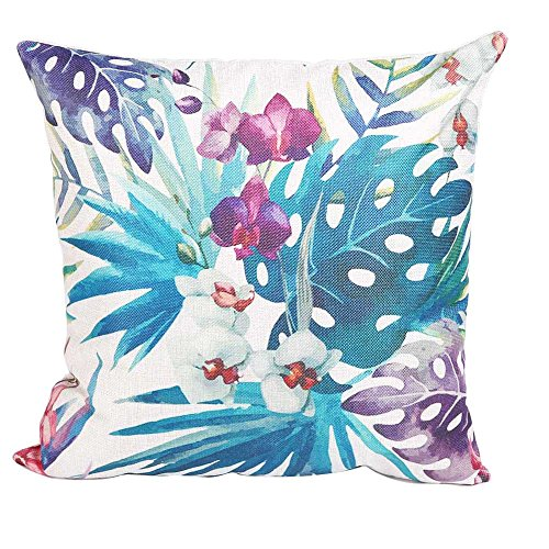 Venkaite federa cuscino cotone misto lino federe per cuscini famiglia divano decorativo 45 x 45 cm (stile 5)