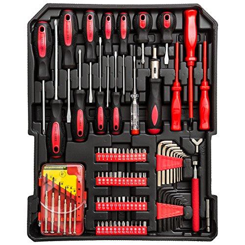 TecTake® 251 teiliger Werkzeugkoffer mit Werkzeug bestückt - 2