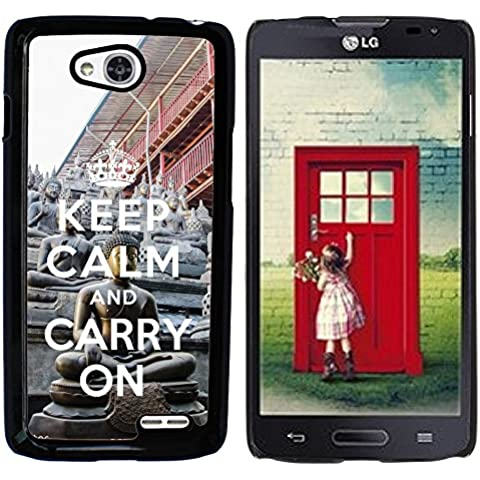 Hülle Case Schutzhülle Cover Premium Case // Q01018302 keep calm and carry on 910 // LG Optimus L90