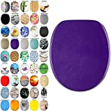 High Quality Toilet Seat Glitter Purple | Great range of colorful toilet seats | Stable Hinges | Easy to mount