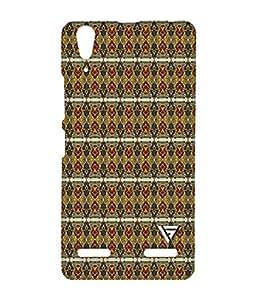 Vogueshell Jaipuri Pattern Printed Symmetry PRO Series Hard Back Case for Lenovo A6000