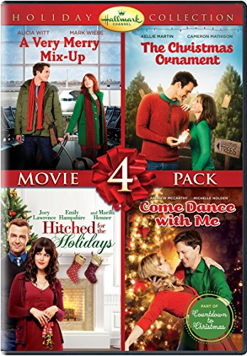 hallmark-christmas-4-pk-dvd-very-merry-mix-up-christmas-ornament-hitched-holidays-dance