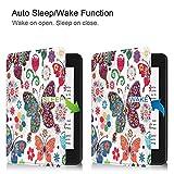 Fulltime E-Gadget Case Cover, 2018 Flip Smart Niedliches Muster PU Leder Tasche Für Amazon Kindle Paperwhite (B)
