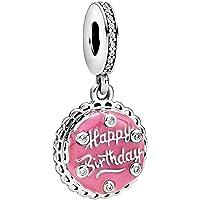 Annmors Charme cœur de Argent Sterling 925 Femmes Perles Charm avec 5A Zircone Compatible pour Pandora Européen…