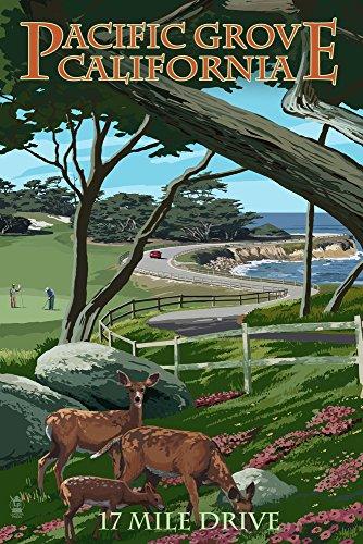 Pacific Grove, Kalifornien-17Mile Drive, Papier, multi, 12 x 18 Art Print (17 Drive Mile)