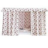 Fancy Pumpkin Ländliche Art-Blumen-Etagenbett-Vorhänge staubdichte Schlafzimmer-Vorhänge, die Tuch für Etagenbett, B