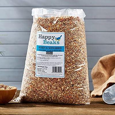 Robin & Songbird Seed Mix Wild Bird All Season Premium No Mess Bird Food by Happy Beaks by Happy Beaks