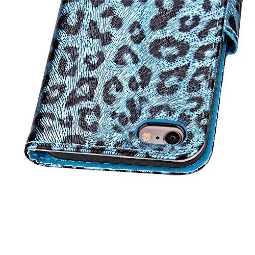 Custodia iPhone 6S 4.7 Cover iPhone 6 4.7,Ukayfe Stitching Colore Flip Case Cover per iPhone 6S 4.7,iPhone 6/6S Lussuosa Astuccio Custodia Cover [PU Leather] [Shock-Absorption] Protettiva Portafoglio  Blu