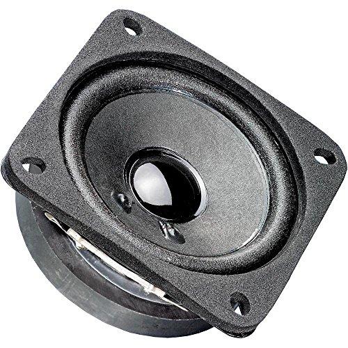 Visaton FRS 7-Lautsprecher (schwarz, auf Putz/Decke, 200-20000Hz, 66.5x 66.5x 31mm, Grille FRS 7) (4-ohm-lautsprecher 15)