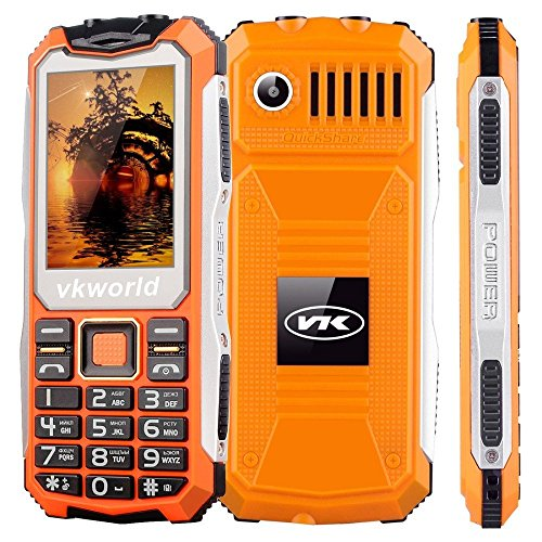 VKworld Stone V3S Täglich Shcokproof staubdicht Lange Standby Draußen GSM Handy 2.4 Zoll Dual-SIM-Steckplatz Bluetooth Big Button Tastatur Doppelte LED-Taschenlampe(Orange) Big Button Bild Telefon