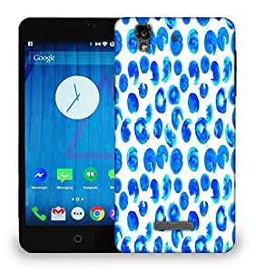 Snoogg Multiple Abstract Blue Paint Printed Protective Phone Back Case Cover For Micromax Yu Yureka
