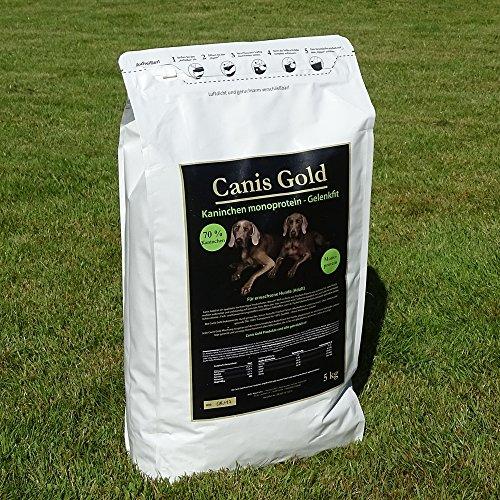 10 kg Canis Gold Adult 70 % Kaninchen | Monoprotein | getreidefreies Super Premium Hunde Trockenfutter