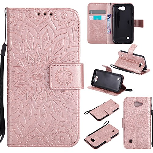 for-lg-k3-case-rose-goldcozy-hut-wallet-case-magnetic-flip-book-style-cover-case-high-quality-classi