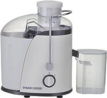 الة صنع عصير بلاك اند ديكر 400 واط مع حنفية - بيضاء JE400-B5
