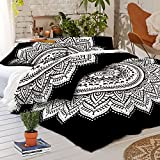 #5: Urban Trends New Exclusive Range of Queen Size 100% Cotton Duvet Cover Sets with 2 Pillow Covers, Indian Reversible Duvet Cover Quilt Cover Coverlet Bohemian Doona Cover Handmade 84
