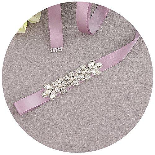 THK-Wedding glitzergürtel brautkleid Schärpe Rhinestones Hochzeit Schärpe,perlen diadem hochzeit...