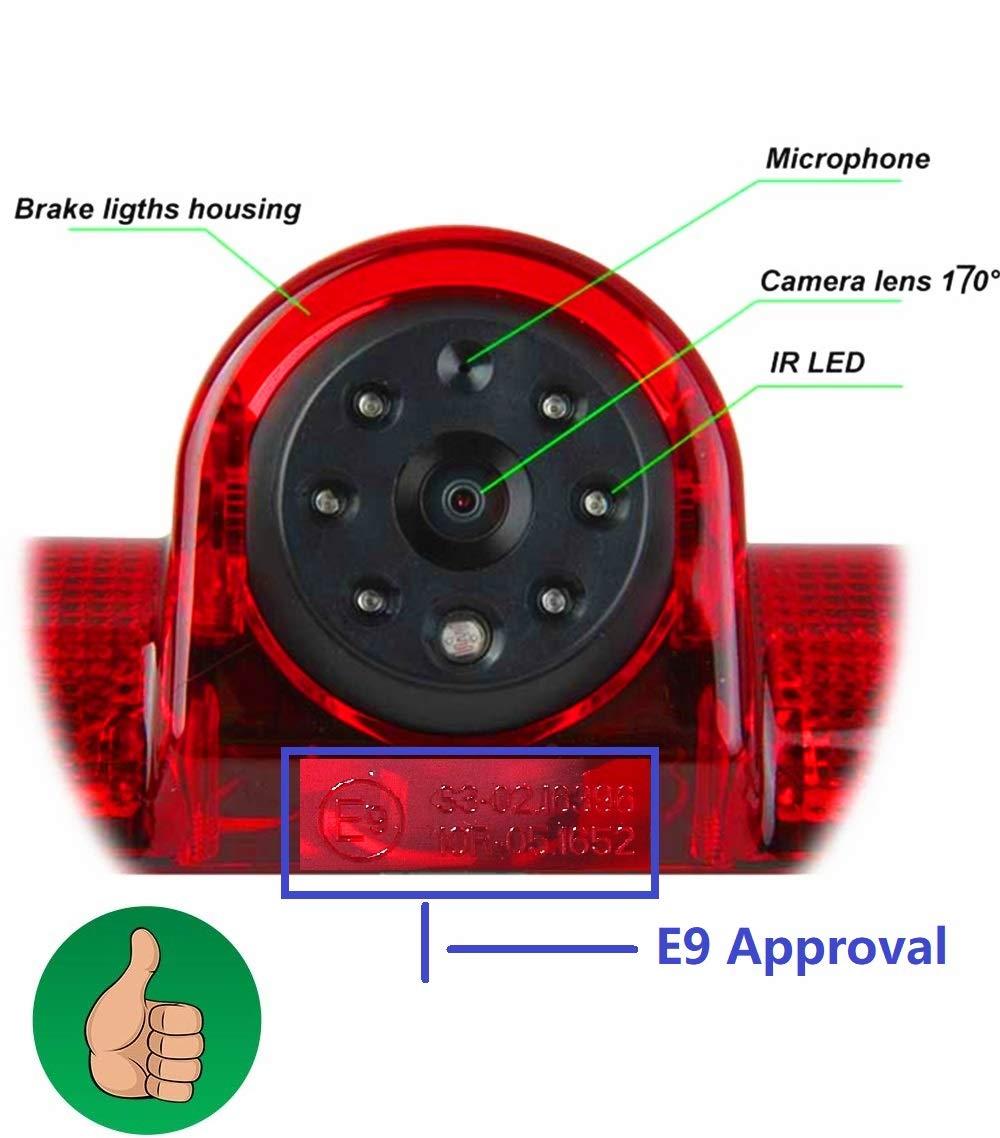 Fahrzeugspezifische-Farb-Rckfahrkamera-zum-Austausch-der-originalen-3-Bremsleuchte-an-der-Dachkante-fr-Peugeot-Boxer-FIAT-Ducato-Citroen-Jumper-70-Zoll-DVD-Monitor-TFT-KFZ-LCD-Display