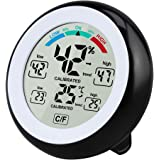 Solocil Digitales Thermo Hygrometer Thermometer, Digitales Monitor Temperatur und Luftfeuchtigkeit mit MIN/Max Records, LCD Display für Schlafzimmer, Büro, Wohnzimmer