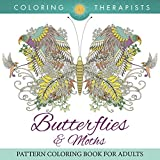 Butterflies & Moths Pattern Coloring Book For Adults