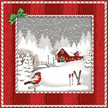 4 Individual Napkins for Craft and Napkin Art. Christmas 3-ply 33 x 33cm Funny Santa 4 Paper Napkins for Decoupage