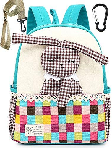 Zaino bambino asilo blu prescolastico infanzia zaino scuola borsa ragazza graziosa cher(1-3anno)