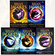Brian Jacques Redwall Series 5 Books Collection Set (Martin the Warrior, Mariel Of Redwall, Lord Brocktree, Mossflower, Salamandastron)
