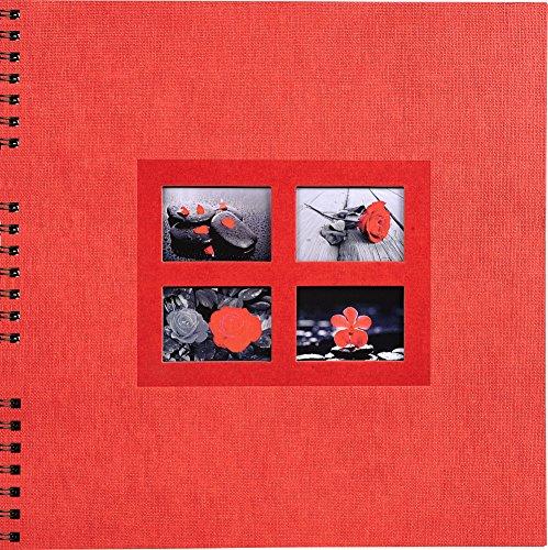 Exacompta 16241E Passion Foto-Spiralalbum, rot, 35 x 33 x 3,3 cm