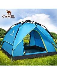 engranaje al aire libre Camel personas 3-4 automáticamente tienda al aire libre tienda de campaña doble lluvia