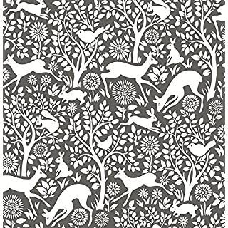 Woodland Meadow Wallpaper A Street Prints Non Woven Grey White Fine Decor