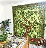ganesham Kunsthandwerk Tree of Life Indian Home Decor Ethnic Hippie Gypsy Bohemian Doppel Tagesdecke Wandbehang Queen Tapisserie Strand Decke Picknick Wirft Quilt Baumwolle Yoga Matte Tischdecke 228,6x 213,4cm