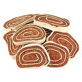 Hähnchen Seelachs Roulade 200g aus frischen Hähnchenfiletfleisch und echtem Seelachs fettarm zart und delikat im Ofen schonend warmluft getrocknet Vergleich