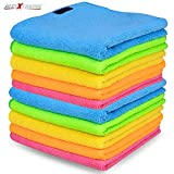 #6: AllExtreme Microfiber Cleaning Towels Super Absorbent Dust Cloth for Lint Free and Streak Free Cleaning of Automobile, Glass, Kitchens, Bathrooms and Furniture (40 x 40 cm, 10 Pcs)