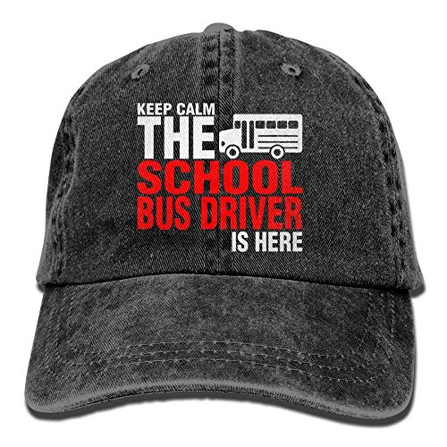 School Bus Driver is Here Denim Hat Adjustables Mini Baseball Cap
