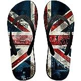 British Flag Jeans Pattern Men Flip Flop Waterproof Beach