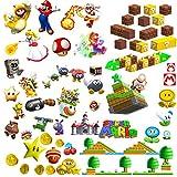 Super Mario Wandtattoo für Kinderzimmer Wandaufkleber Jungen und Mädchen Schlafzimmer Große Kinder