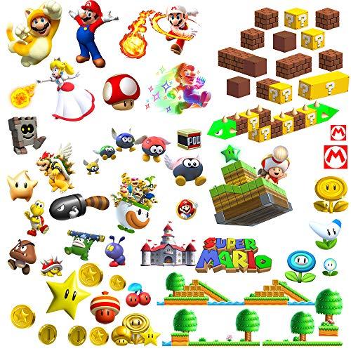 Adesivi Murali Super Mario.Super Mario 3d Adesivi Murali Decalcomania Decorazioni Per La Casa