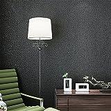 Vliestapete Moderne minimalistische selbstklebende Tapete Schlafzimmer Dekoration Pure Pigment Farbe kommt mit Kleber Wallpaper Imitation Diatomeen Schlammwand (0,53x3m (Color : Black)