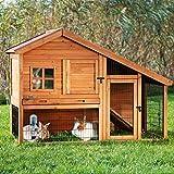 behandeltes Kiefernholz Luxus Stall mit Gehäuse–mit Loft für zusätzliche Isolierung, besonders robust Drahtzaun–Für Hingucker in Ihrem Garten