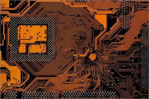 Stampa su PVC 30 x 20 cm: Computer Motherboard di Antonio Romero/Science Photo Library