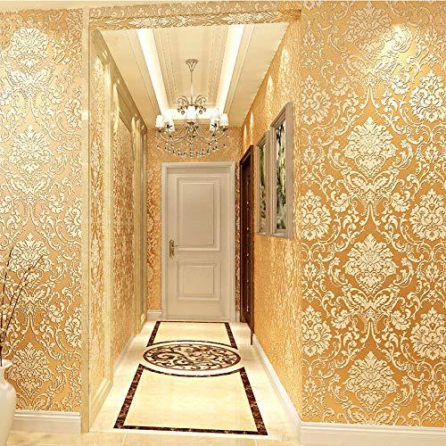 Selbstklebende Tapete, glattes wasserfestes Tapeten selbstklebend beige [selbstklebend 1 Meter] -