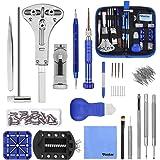 Vastar 177PCS Kit Riparazione Orologi, Kit Attrezzi Orologiaio per Fai da te Orologi, Utensili per Orologio Riparazione,Dispo