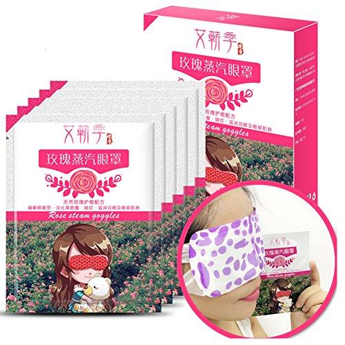 YIFEIKU Co.,Ltd. Eye Maske Dampf Heizung Warm Eye Maske 5Blatt Kräuter Medical Health Care lindern belpharitis, Schmucktruhe, trockene Augen, müde Augen, geschwollene Augen mit Geschenk-Box, rose