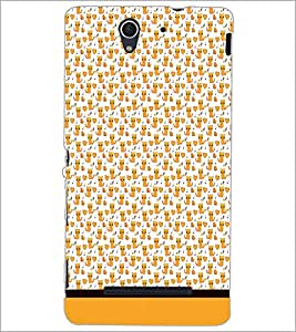 PrintDhaba Kitty pattern D-1779 Back Case Cover for SONY XPERIA C3 (Multi-Coloured)