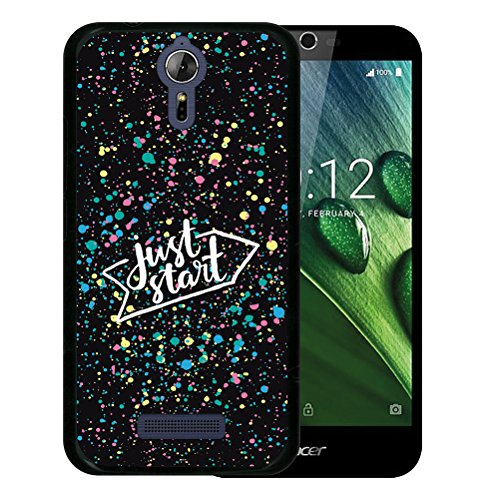 WoowCase Acer Liquid Zest Plus Hülle, Handyhülle Silikon für [ Acer Liquid Zest Plus ] Just Start Handytasche Handy Cover Case Schutzhülle Flexible TPU - Schwarz