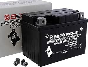 2extreme 5ah 12 Volt Batterie Wartungsfrei Inklusive 7 50 Batteriepfand Kompatibel Für Piaggio Sfera Nsl 50 Auto