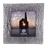 St Justin Petit cadre photo en étain-Effet ardoise Motif-Petit carré en étain Métal Photo/cadre photo pour photo 78mm