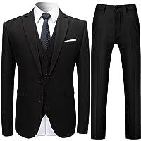 Mens Suits 3 Pieces Slim Fit Wedding Formal Dinner Suits for Men Blazer 2 Button Tuxedo Jacket Trousers Waistcoat