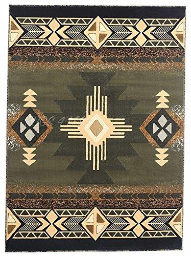 Rugs 4Weniger Kollektion Southwest Native American Indian Bereich Teppich Design R4L 318Oliv grün, Salbei Grün Südwest 2x3 salbeigrün (Salbei Grün-teppich)