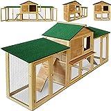 Deuba Kaninchenstall Hasenstall Hase Kaninchen Stall Käfig Kleintierstall Freilauf Garten XXL